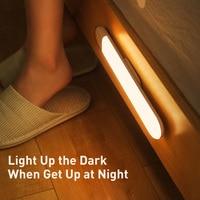 Baseus LED Cabinet lamp PIR Motion Sensor Light USB Wardrobe Light Warm Light Night Light LED Night Lamp Magnet Wall Light