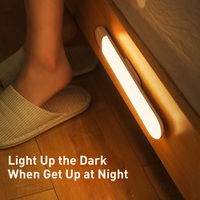 Baseus LED Wardrobe Light PIR Motion Sensor Light USB Rechargeable Night Light LED Night Lamp Magnet Wall Light Warm White Light