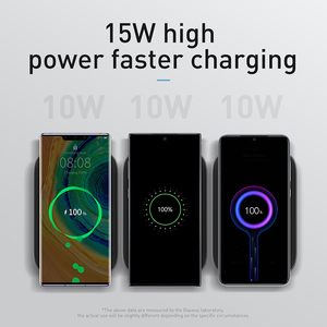 Image 3 - Baseus 15W Fast Qi Wireless Charger Desktop Holder Wireless Charger Pad For iPhone11XS X Max For SamsungS10 S9 Stand Charger