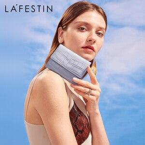 LAFESTIN 2020 новый складной короткий кожаный маленький кошелек женский Компактный изысканный трехслойный мини кошелек Тонкий