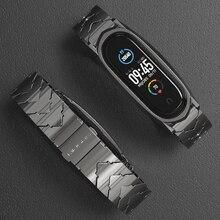 สำหรับMi 5สำหรับXiaomi Band 4 3 NFCสร้อยข้อมือโลหะสแตนเลสGlobal Versionใช้งานร่วมกับสายรัดข้อมือcorrea