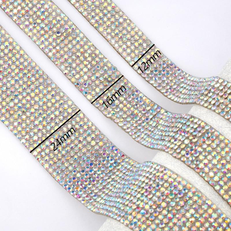 1Yard Bling Crystal Rhinestone Ribbon Wedding Dress DIY Craft Sewing Decor NEW