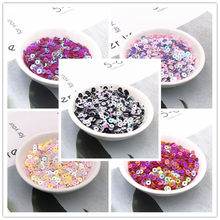 1000 uds/5g/paquete 4mm AB mezcla de colores Encuentro de Lentejuelas Para artesanías Lentejuelas Para Coser accesorio Para decoración DIY Lentejuelas Para Coser