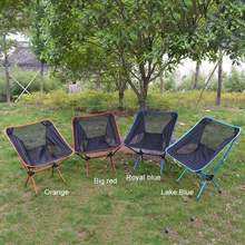 Portable Moon Chair Fishing Camping BBQ Stool Folding Extended Hiking Seat Garden Ultralight Office Home Furniture