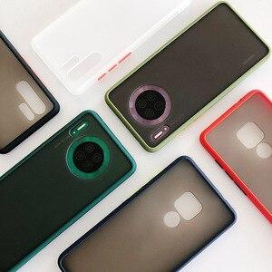 Matowy zderzak etui na telefon do Huawei P40 P40 Pro Nova5 Pro P20 P30 Pro Mate 20 30 Pro miękki, odporny na wstrząsy przezroczysty silikonowy pokrowiec