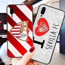 Phone Case Barega For Huawei P8 Case P9 P10 P20 P30 Black Soft TPU DIY Case For Sevilla FC Case Honor 9 V10 Y5 Y6 Y9 Y7 Y9 real sociedad sevilla fc