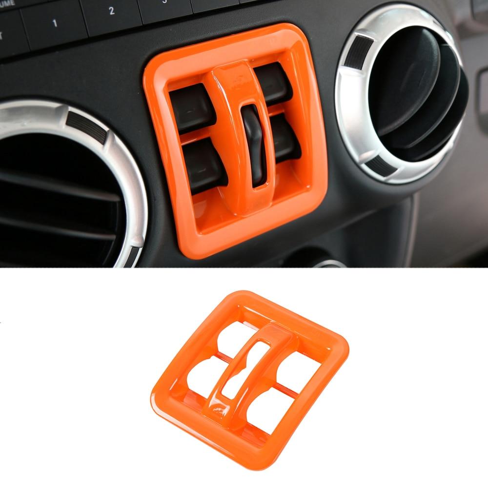 FOR jeep Wrangler JK 2011-2017 ABS carbon fiber Start button ignition key cover