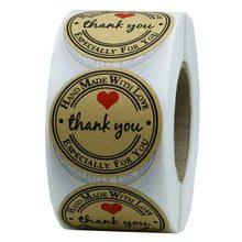 500 шт/рулон спасибо этикетка наклейки Декоративные для бизнеса