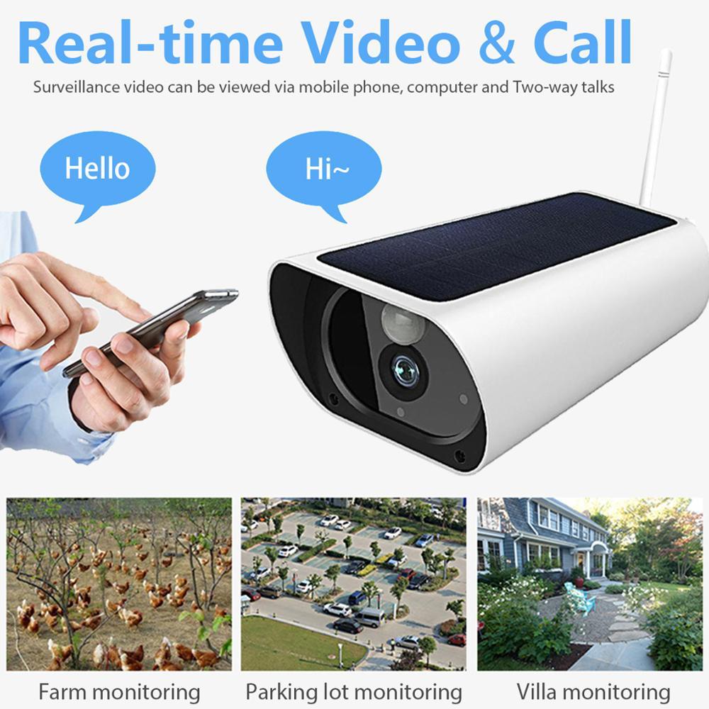 Wasserdichte HD 1080P Solar Kamera Infrarot Nachtsicht 4G Intelligente echtzeit Überwachung Stimme Intercom Alarm Gerät - 2
