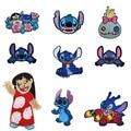 Disney Лило и Стич патчи аниме с рисунком героев из мультфильмов одежда для малышей патчи для одежды наклейки вышивка тканевые наклейки подарк...