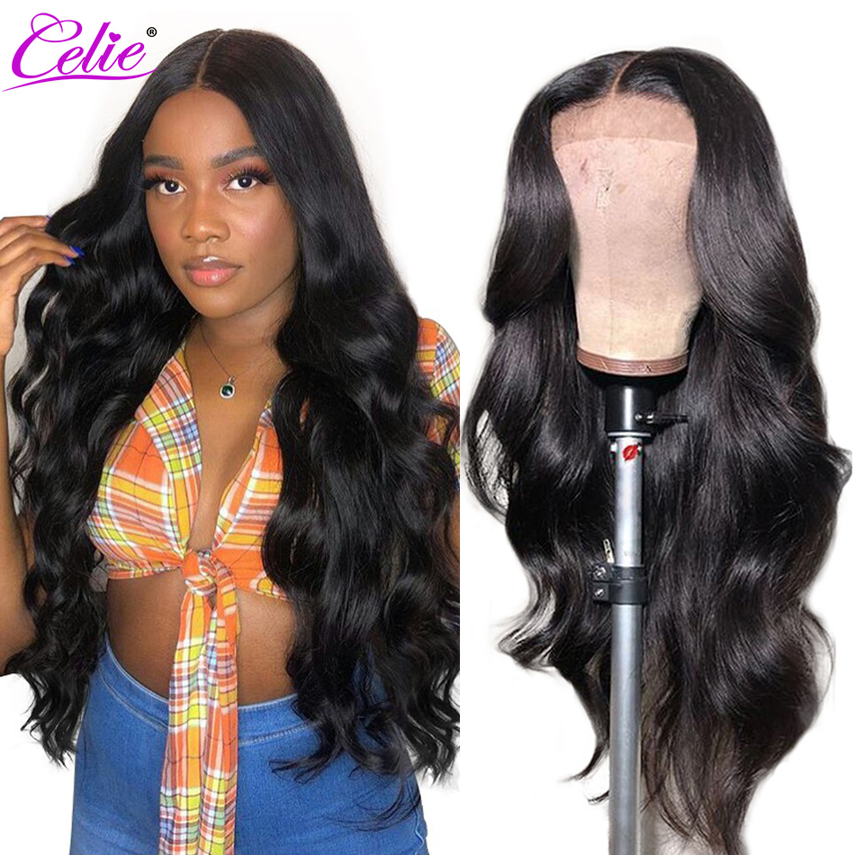 Celie Hair Body Wave Wig Full Lace Human Hair Wigs Pre Plucked With Baby Hair 150 200 Density Glueless Brazilian Full Lace Wig