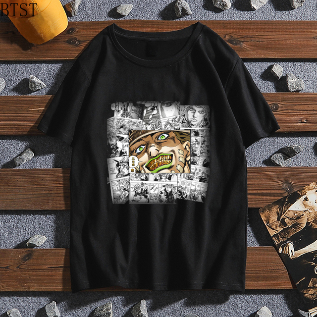 T-shirt Cool JoJo Bizarre Adventure Graphic Print Tee Homme Japanese Anime Style Tshirt oversized tee Cotton Soft T-Shirt Men 4