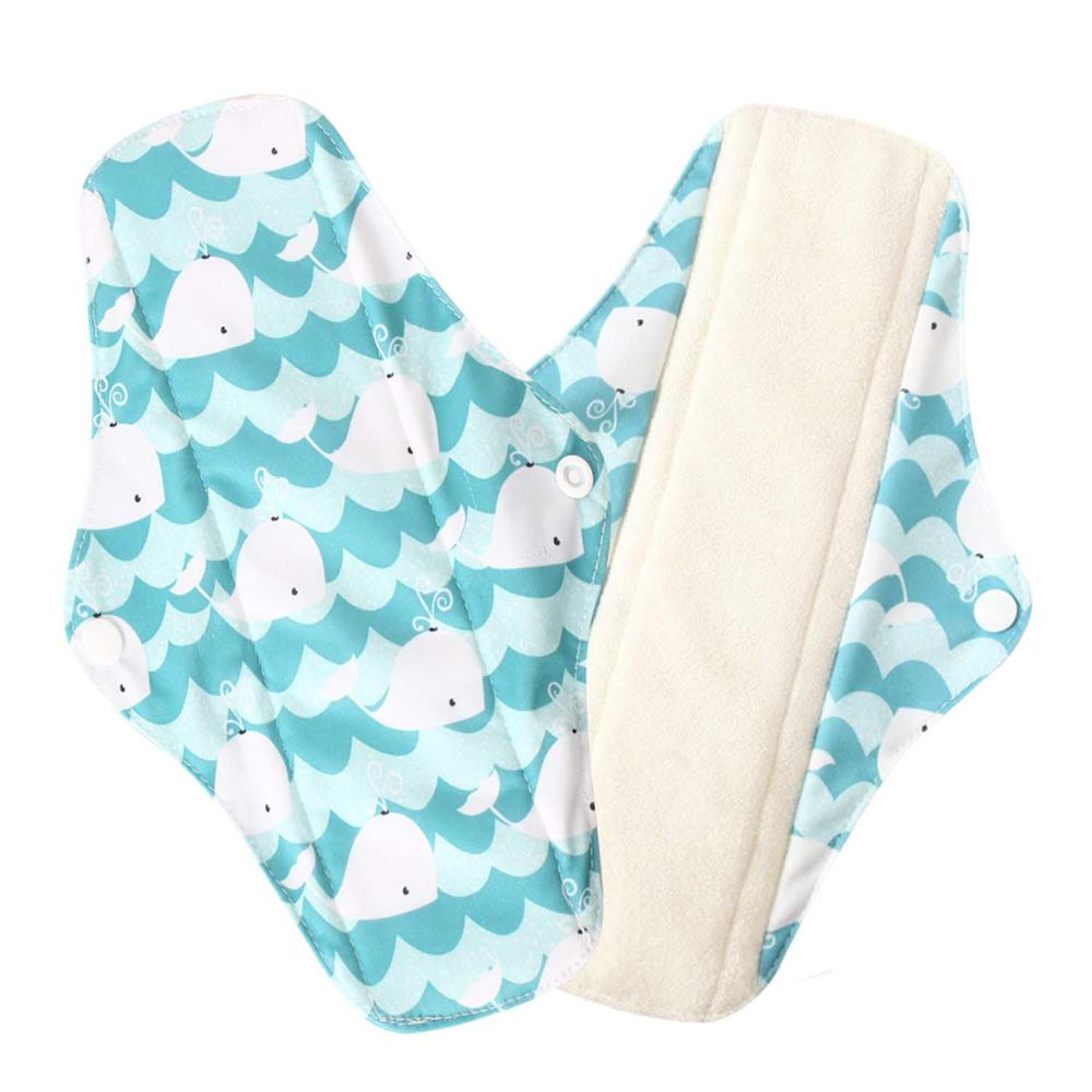 Dropshipping Reusable Menstrual Pads Ohbabyka Waterproof Oganic Bamboo Heavy Flow Cloth Sanitary Pads Menstrual Pads Cloth Pads