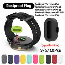 Silicone Dustproof Plug Cover Charger Case For Garmin Fenix 6 6S 6X Pro 5 5X 5S Plus forerunner 945/935/245/245M/45/45S Instinct