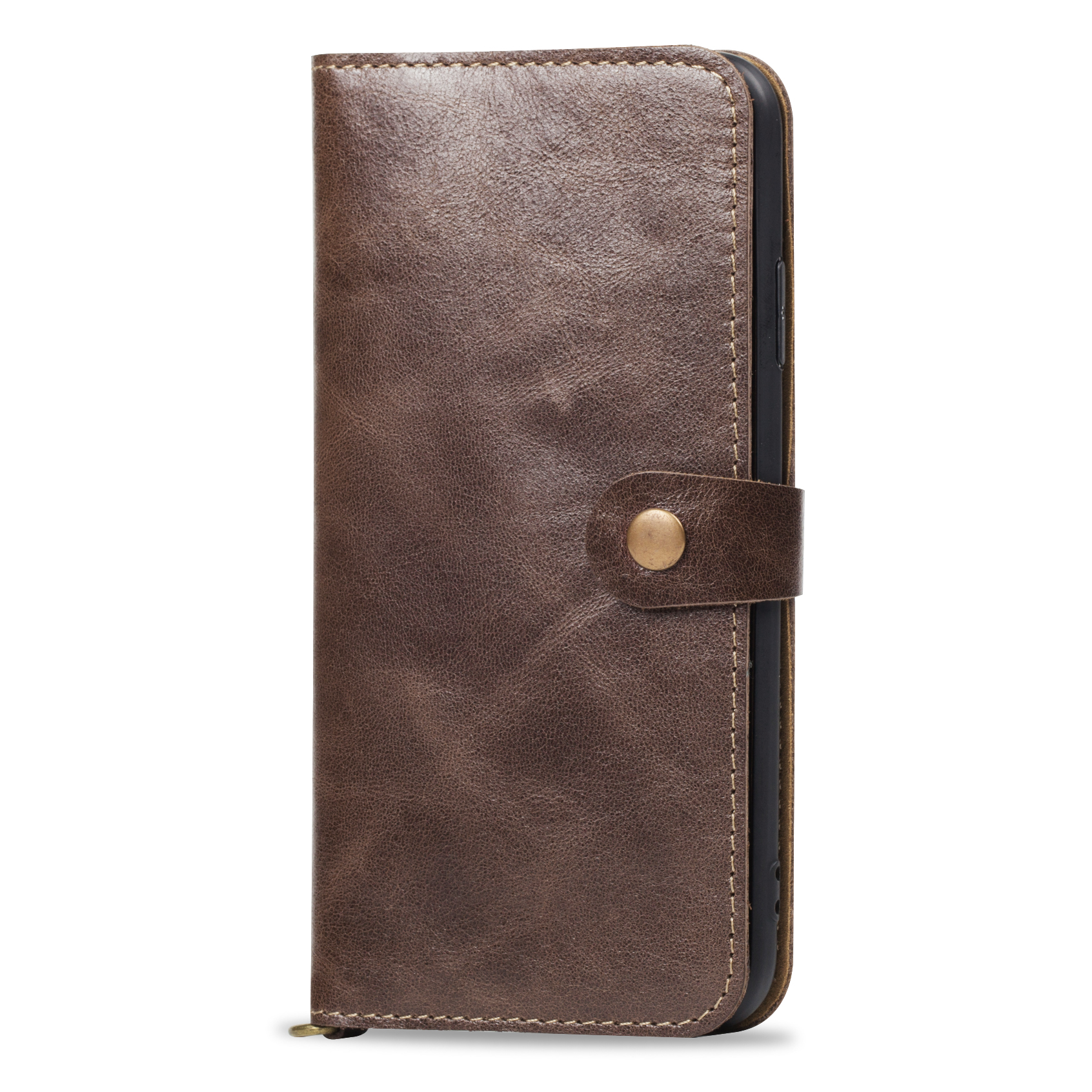 YXAYN 100% Leather Luxurious Comfortable Wallet Flip Phone Case For iPhone 11 PRO MAX 7 8 Plus X XR XS MAX image