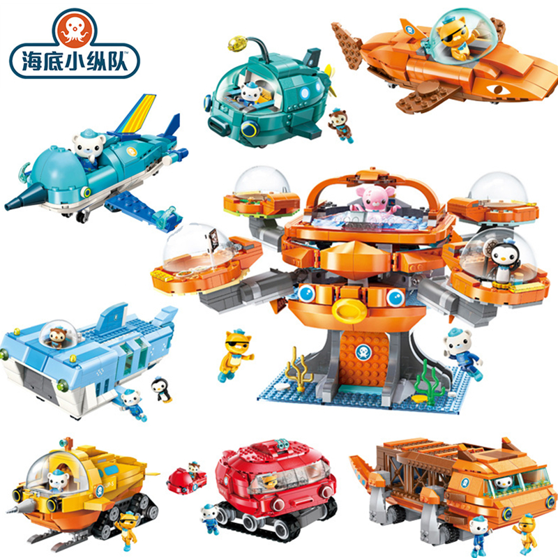Original Octonauts Assembled Vehicle Action Figure Toy Barnacels Kwazii Peso Penguin Dashi Inkling Model Toys For Children Gift