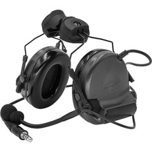 Protective earmuffs tactical electronic shooting headset hunting noise reduction tactical helmet ARC track COMTAC II headset BK