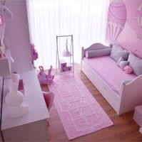 75*180cm Big Carpet for Girl Boy Living Rooms Chinese Checkers Children Fur Carpet Photography Props Mat for Home Decoration