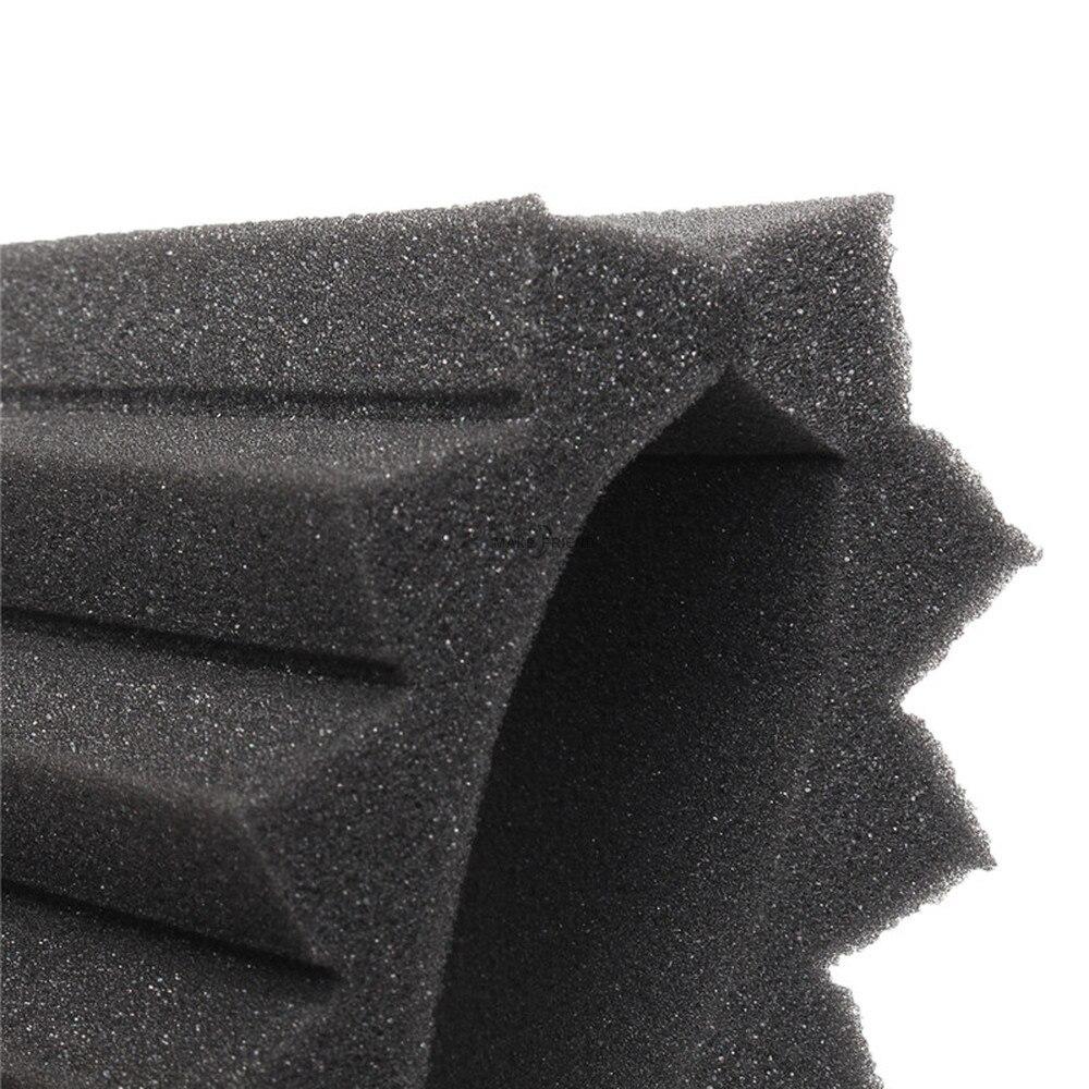 24PCS 300x300x25mm Studio Acoustic Foam Sound Proofing Protective Sponge Soundproof Absorption Treatment Panel Sealing Strips