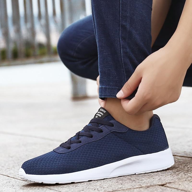 Black Sneakers Men Running Shoes Soft Mesh Footwear Unisex Light Sports Shoes Women Sneakers Zapatos De Mujer Plus Size 35-47#