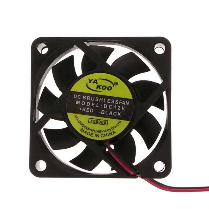 DC 12V 2-Pin 60x60x15mm PC Computer CPU System Sleeve-Bearing Cooling Fan 6015 10166
