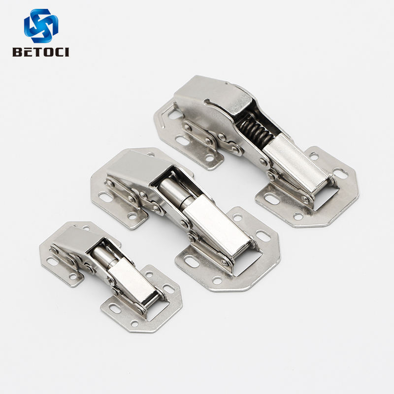 Betoci 90Degree3-4Inch Not Drilling Hole Cabinet Hinge Cabinet Door Soft Closing Hinge Hydraulic Buffer Hinge Furniture Hardware