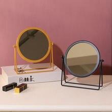 Портативные Золотые декоративные зеркала зеркальные украшения
