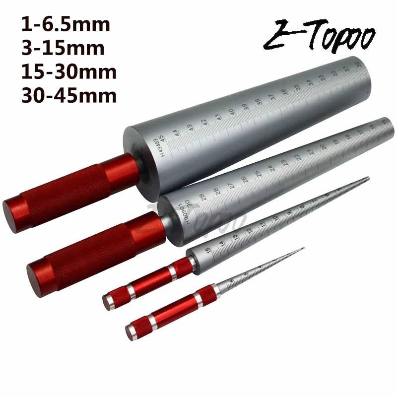 1 шт. 1-6,5 мм 3-15 мм 15-30 мм 30-45 мм конический щуп конусный датчик размера отверстия конуса