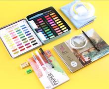 Watercolor paint set solid watercolor 36 color painting tools beginner portable students hand-painted