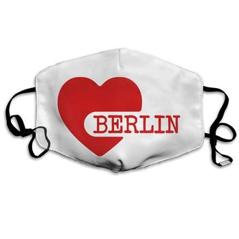 Mouth Mask Love Berlin F2 Print Masks - Breathable Adjustable Windproof Mouth-Muffle, Camping Running for Women and Men вечернее платье red dust love bell f2 15