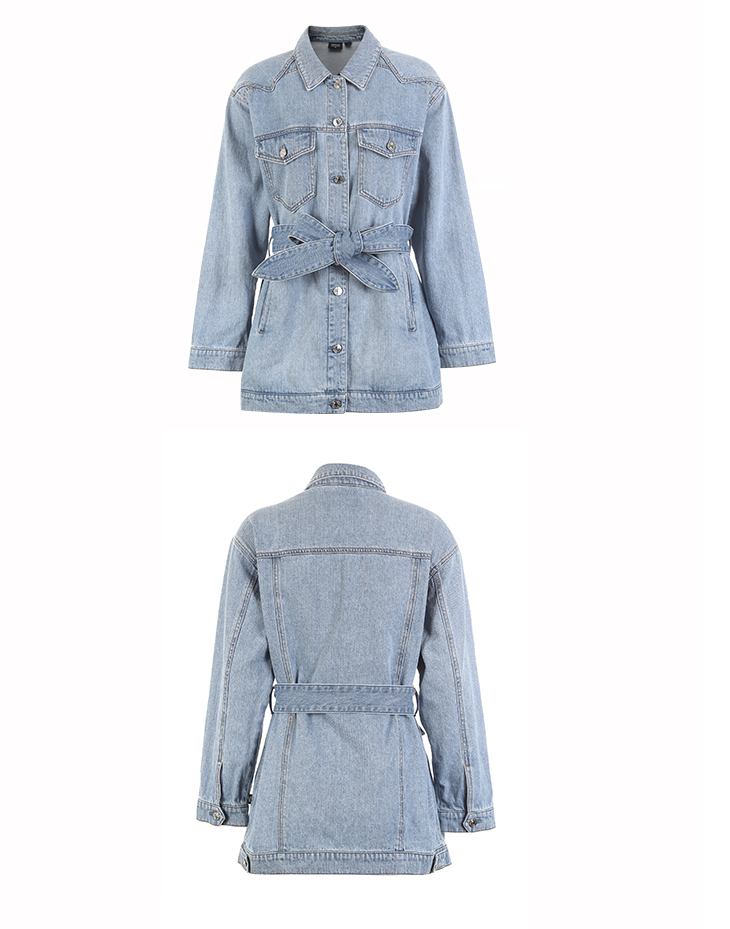 ONLY 19 Women's Loose Fit tie-up Casual Denim Jacket |119154529 17