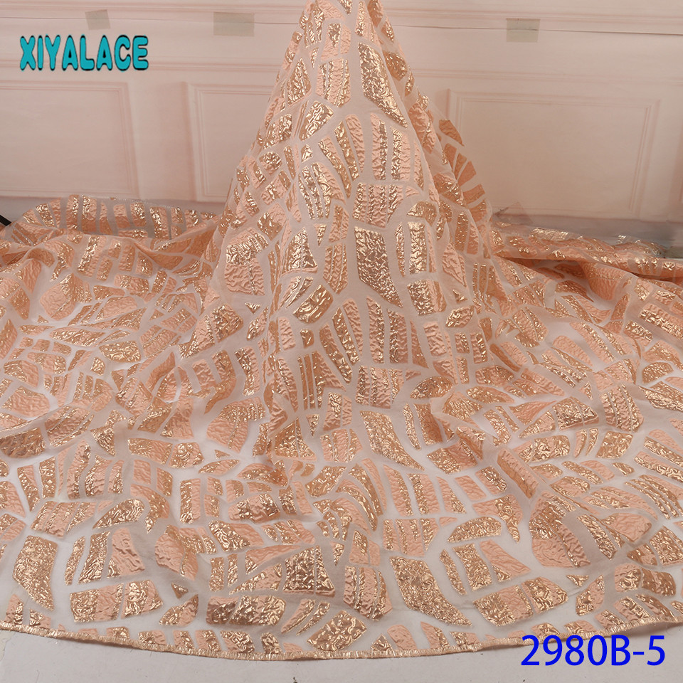 African Nigerian Lace Fabric 2019 High Quality Lace Brocade Lace Fabric French Tulle Mesh Lace Fabric For Party YA2980B-5