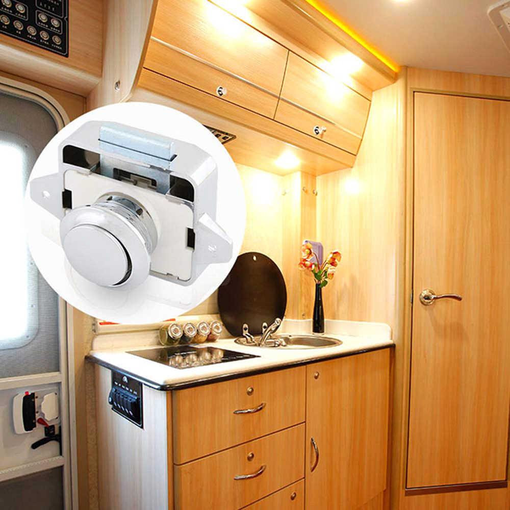 รับประกันปุ่มล็อค Camper รถ PUSH LOCK 26 มม.RV Caravan เรือมอเตอร์บ้านตู้ลิ้นชักลิ้นชักปุ่มล็อค