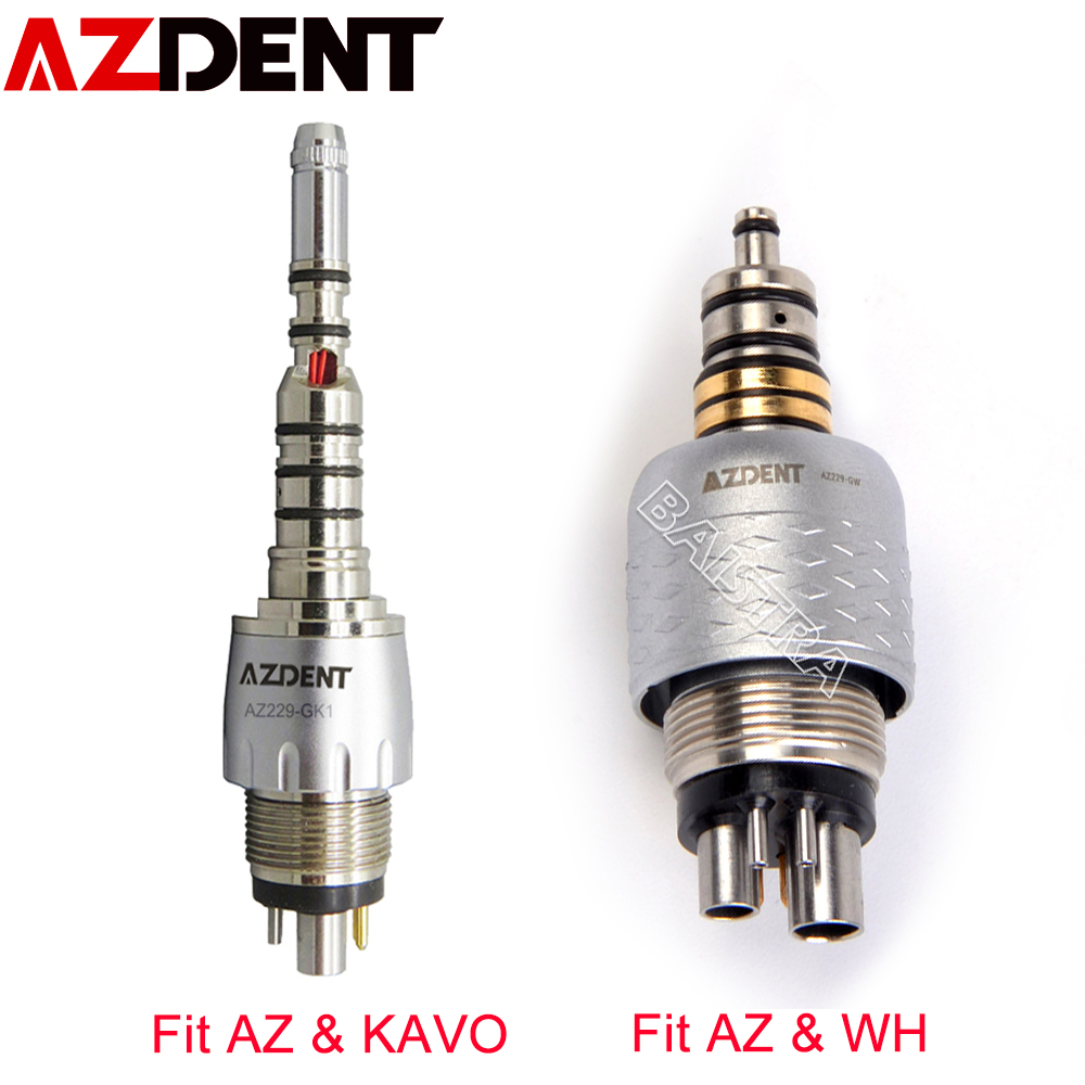Azdent Dental Quick Coupling Coupler For W&H KAVO Handpiece LED Dental Quick Couple