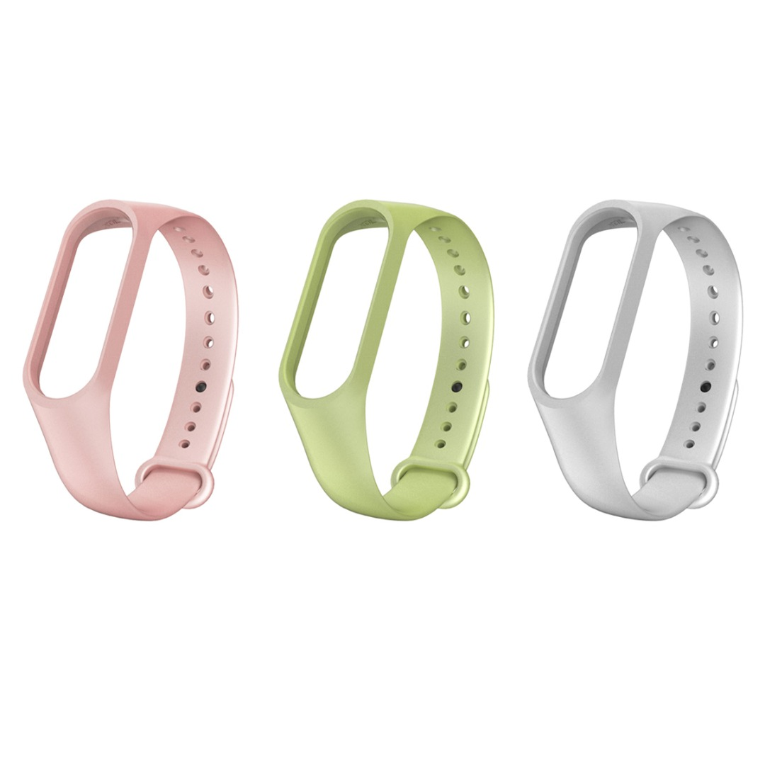 New Silicone Strap For Xiaomi Mi Band 4/3 Wristband Adjustable TPU Silicone Pink Replacement Watch Band Bracelet Accessories