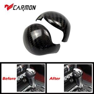 Carmon для Ford Mustang углеродное волокно чехол для рычага переключения передач и Ford Mustang аксессуары внутренняя рукоятка для рычага переключения п...
