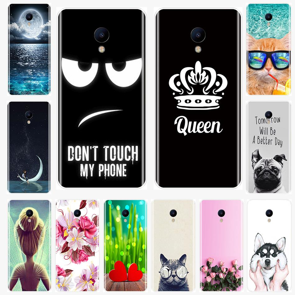 Cute pattern painting Back Cover For Meizu M2 M3 M5 M6 Note Soft Silicone <font><b>Phone</b></font> <font><b>Case</b></font> For Meizu M6 M6S M6T M5 M5C M5S M3 M3S M2 image