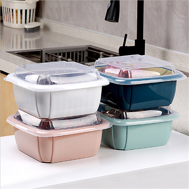 трехкомпонентная двойная сливная корзина кухонное сито для мытья фотография