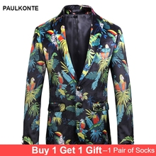 2019 Mens Printed Suit High Quality Business Casual Fashion Trend Party blazer