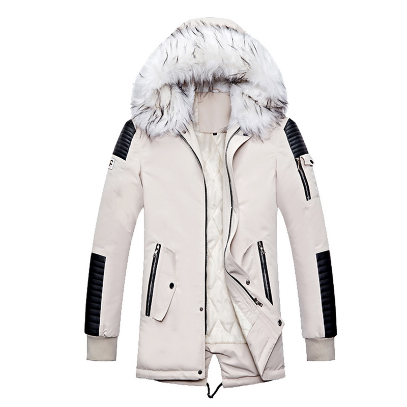 Brand New Winter   Parkas   Men Thicken Warm   Parkas   Casual Long Outwear Hooded Collar Jackets and Coats Men veste homme Wholesale