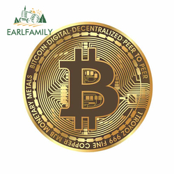 EARLFAMILY 13cm x 12.7cm For Bitcoin Car Stickers Repair Decals Fashion Personality Creative Sticker Occlusion Scratch