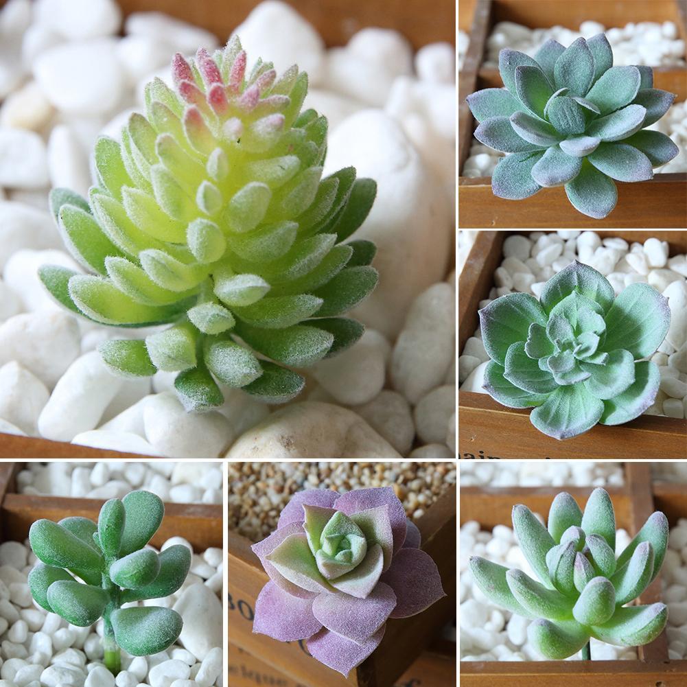 New Hot Sale 1Pc Plastic Fake Artificial Succulents Plant Bonsai Garden Home Office Decor