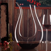 U Shaped 1500ml Crystal Glass Red Wine Whiskey Decanter Wine Pourer Wine Container Champagne Water Bottle Juice Drinking Glasses transparent red wine pourer