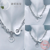 Cheny 100% 925 Sterling Silver Romantic Love Heart Pendant Necklace Fashion High Quality Luxury Jewelry For Valentine's Day Gift