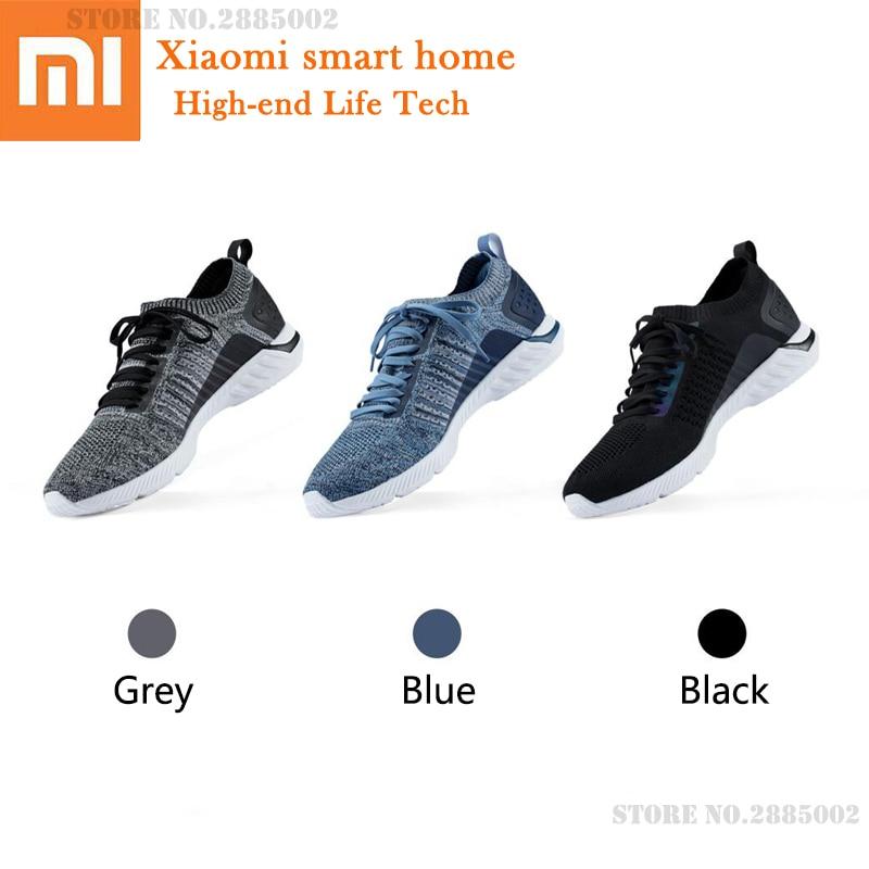 Xiaomi 90 очков кроссовки вязаная обувь износостойкие легкие мягкие стельки вразлёт, плетение дышащая Спортивная обувь для спортзала