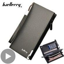 Cremallera larga-tarjetero para teléfono móvil para hombre, cartera masculina, monedero, bolso de mano, 2020