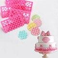 13 видов Пластик DIY Fondant (сахарная) торт устройство для тиснения Цветок формочки для печенья прессформы для защиты от обледенения тиснения фо...