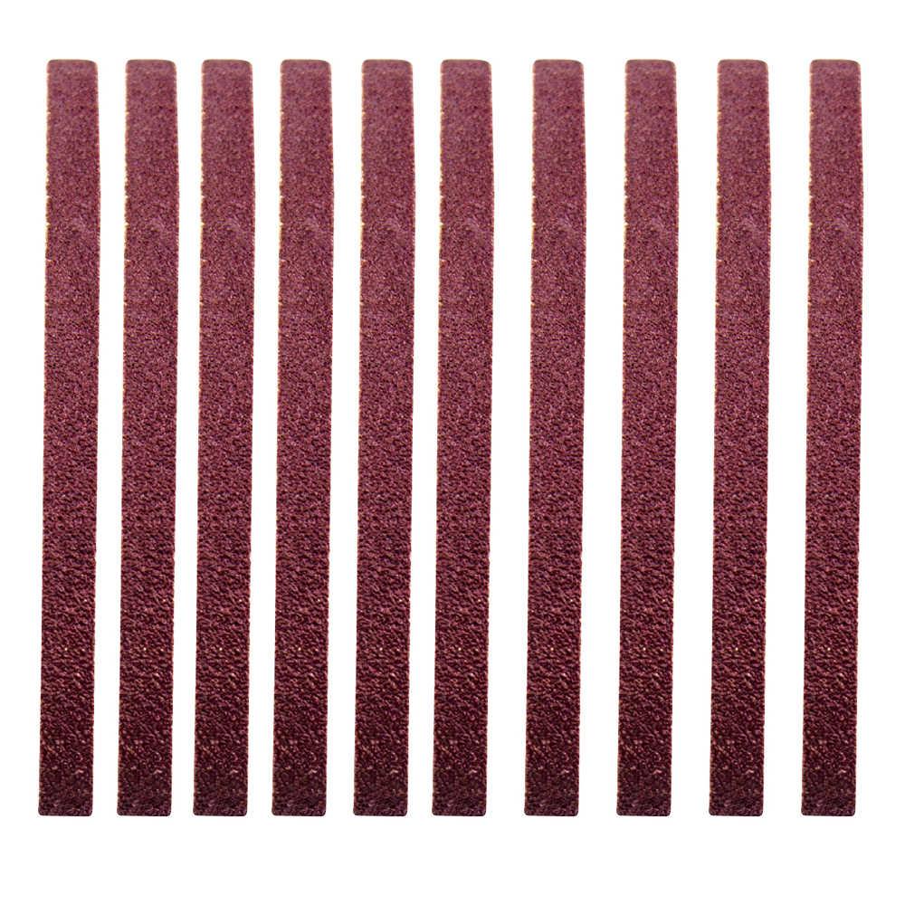 10 sztuk taśmy szlifierskie zestaw 60-1000 Grit wielofunkcyjne szlifowanie i polerowanie zamiennik dla szlifierka kątowa pasek szlifierski
