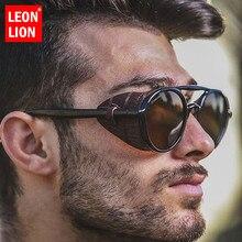 Retro Sunglasses Lunette Punk Soleil Men Vintage Men/women Luxury Brand Leonlion