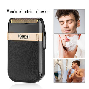 Kemei Rechargeable Cordless Shaver for Men Twin Blade Reciprocating Beard Razor Face Care Multifunction Trimmer KM-1102/2024